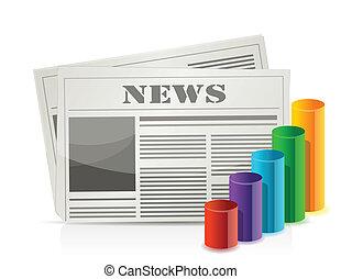 chart statistics and newspaper