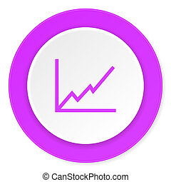 chart violet pink circle 3d modern flat design icon on white background