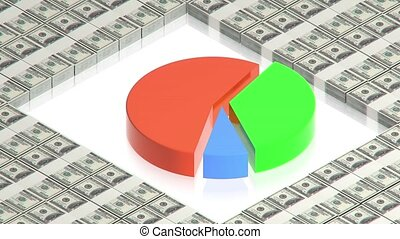 Chart with dollars - part of isometric collections of...