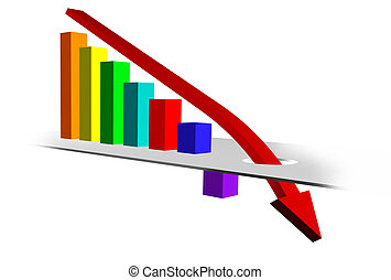 Business Chart indicating Downward Trend
