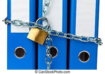 chartekker, lås, fil, kæde