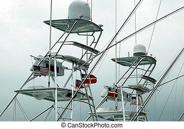 Photographed charter boats at a local marina in Florida.