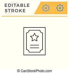 Charter line icon isolated on white. Editable stroke. Vector...