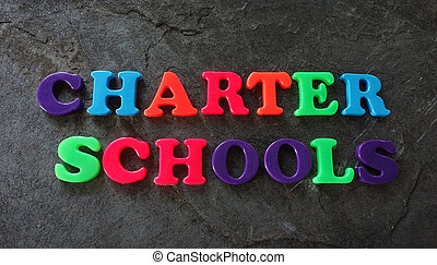 Charter school concept - Charter Schools spelled out in...