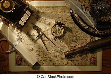 charting the course - nautical navigation tools on old world...
