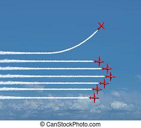 charting, uno, differente, percorso