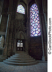 Chartres cathedral interior door