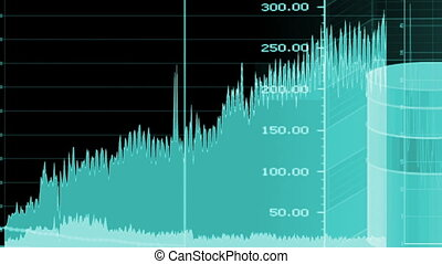 Charts Graphs Looping Background