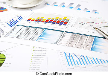 charts of growth, paperworks - charts of growth, tables ,...