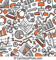 Charts Sketch Seamless Pattern