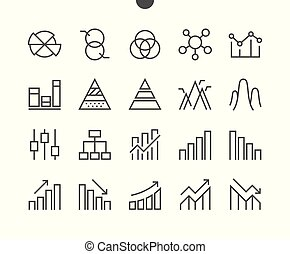 Charts UI Pixel Perfect Well-crafted Vector Thin Line Icons...