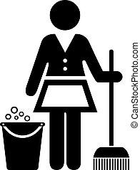 Charwoman icon