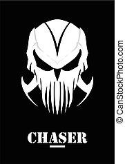 Chaser. Hunter. Skull with claw. White Mask. Phantom. Alien.