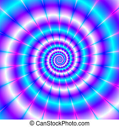 Chasing The Tail - An abstract fractal image with a spiral ...