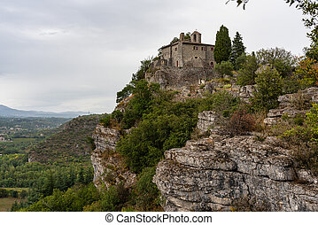 chassagnes, chapelle, saint-eugene, france, de, ardeche