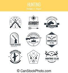 chasse, logos