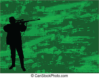 chasseur, camouflage, fond