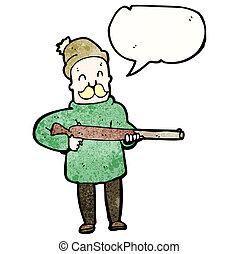 chasseur, dessin animé