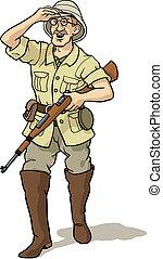 chasseur, explorateur
