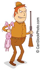 chasseur, lapin