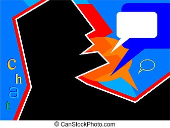 chat - abstract style communication illustration