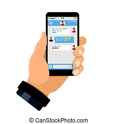 Chat application on smartphone