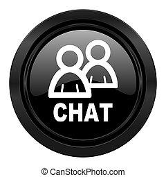 chat black icon