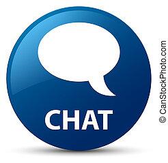 Chat blue round button