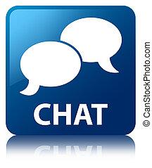 Chat blue square button
