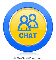 chat blue yellow icon