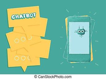 Chat bot concept. Vector illustration. - Chat bot concept....