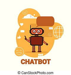 Chat Bot Icon Chatterbot Robot Support Artificial Intelligence Concept