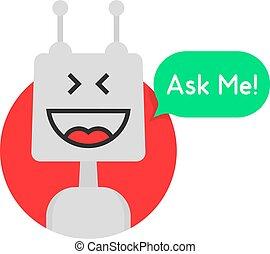 chat bot icon like chatbot robot