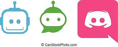 chat bot icon on white background