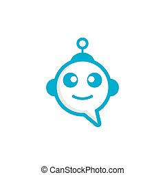 Chat bot icon vector illustration design