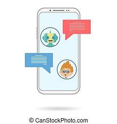 Chat bot phone chating