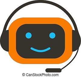 chat bot vector character icon online support service