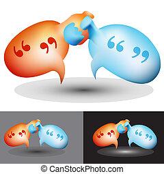 Chat Bubble Handshake