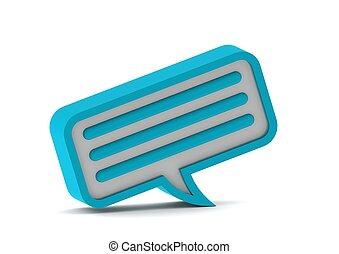 Chat bubble icon. Blue series