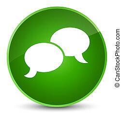 Chat bubble icon elegant green round button