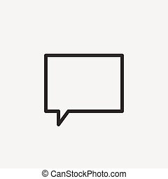chat bubble icon of brown and thin outline