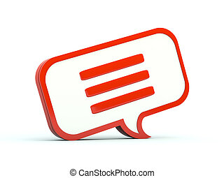 Chat bubble icon. Red series