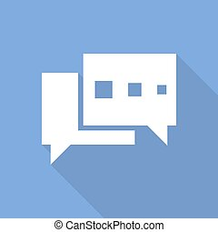Chat bubble icon. Vector illustration.