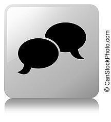 Chat bubble icon white square button