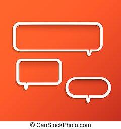 Chat Bubble Shelves - Illustration of chat bubble shelves on...