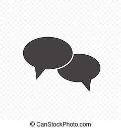 Chat bubble speech vector icon