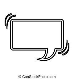 chat bubble square icon stock