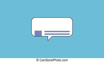 Chat bubble symbol HD animation - Chat bubble symbol over...