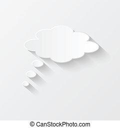 Chat Bubble, Vector Illustration