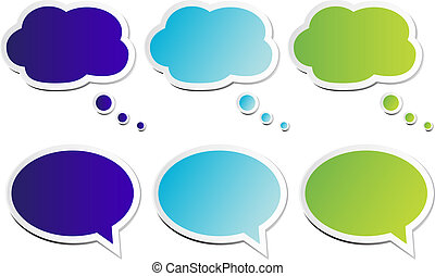 Chat bubbles in classic bubble and round style